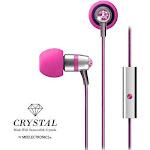 MEE Audio Crystal In-Ear Wired Headphones, Pink