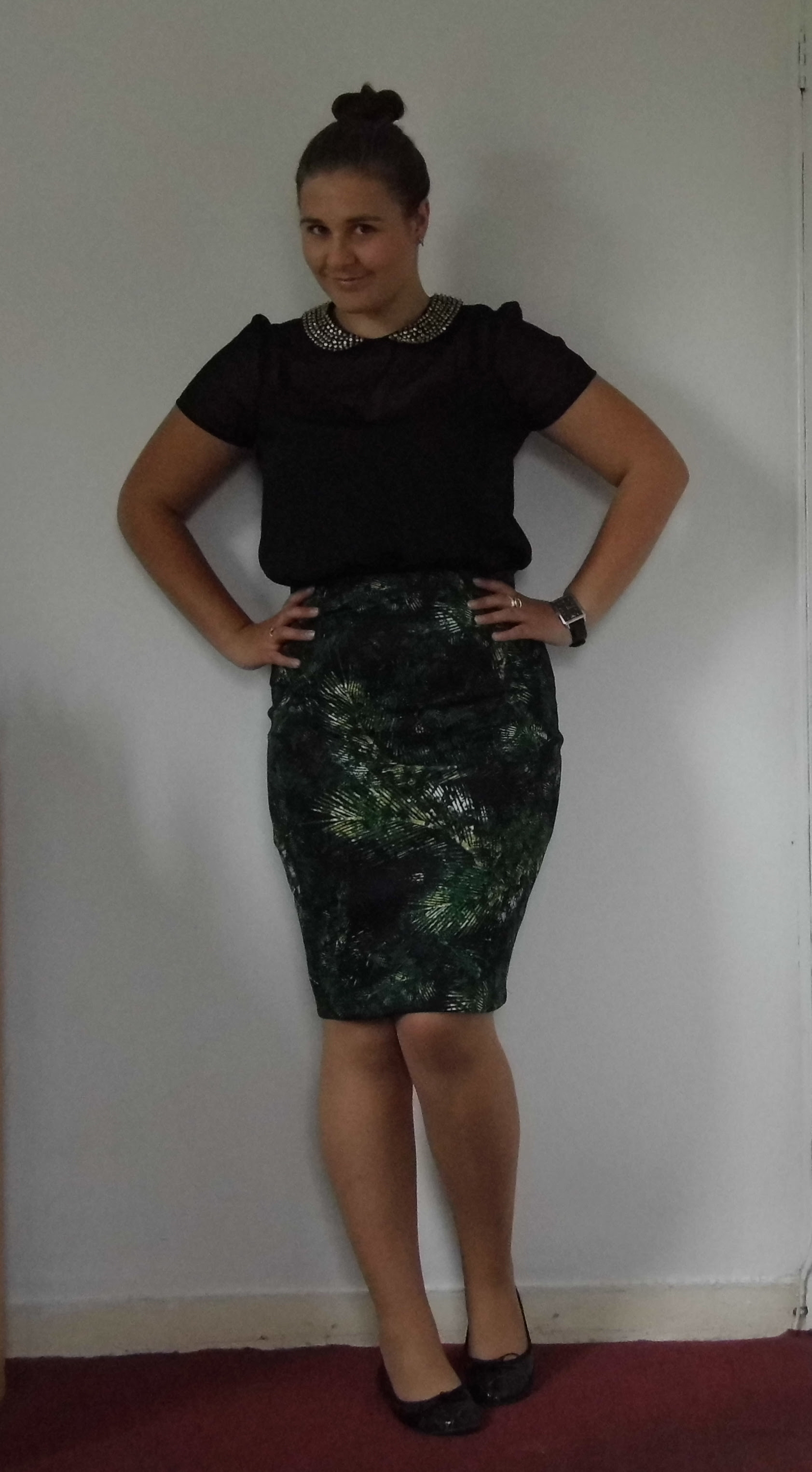 George Palm Print Skirt 2