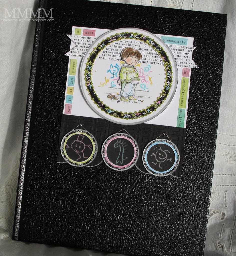 Mo's Digital Pencil Sam in Trouble Kid's sketchbook mel stampz
