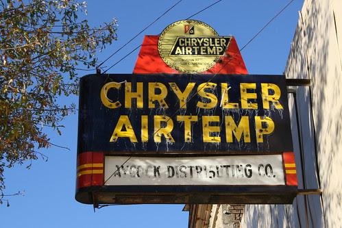 chrysler airtemp neon sign