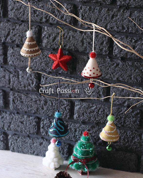 yarn wrap christmas tree