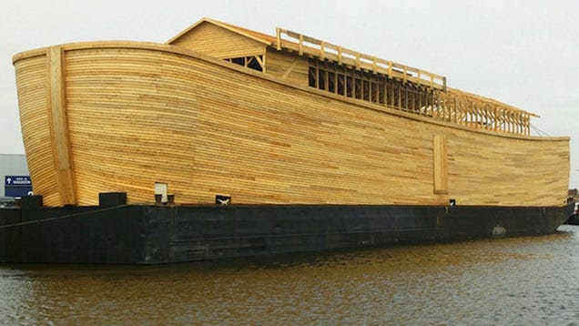 Johan's Ark is ready for its maiden voyage down the canals of Holland