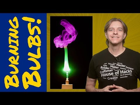 How to photograph a burning light bulb filament