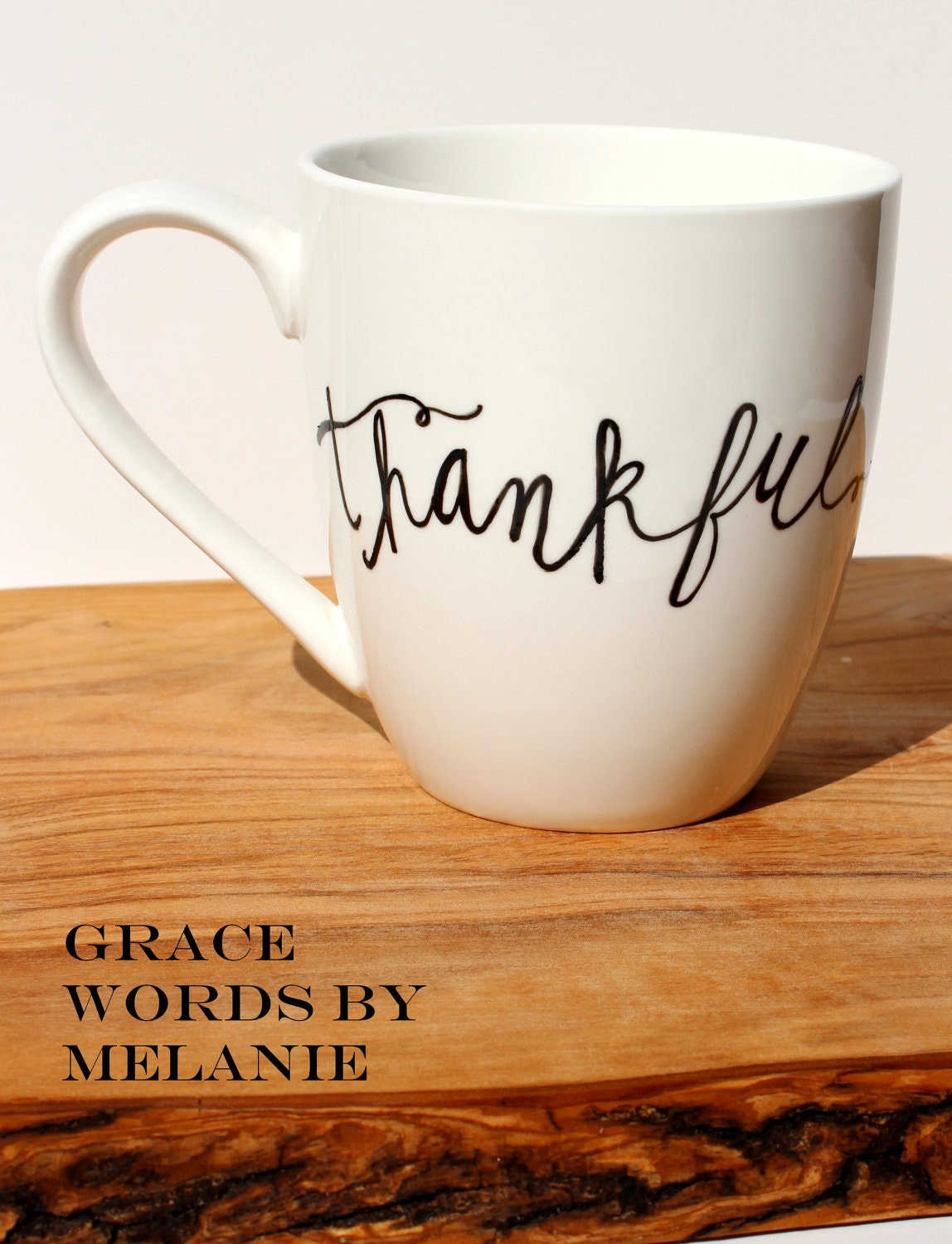 THANKFUL Coffee Mug Hand Painted