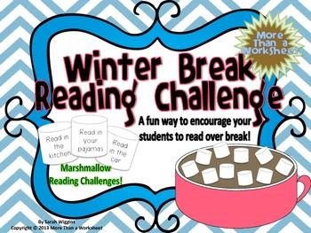 Winter Break Marshmallow Reading Challenge