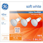GE 45 Watt Soft White Floodlight R20 - 3 Pack - New