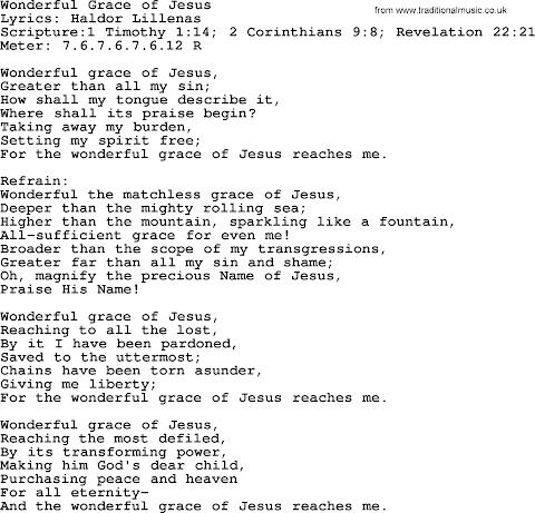 Wonderful Grace Of Jesus Lyrics Pdf