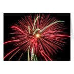 Red Fireworks card