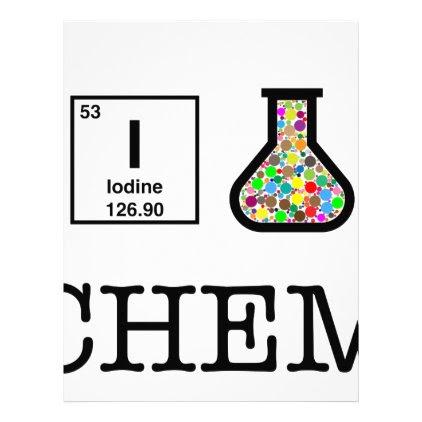 I Love Chemistry Letterhead