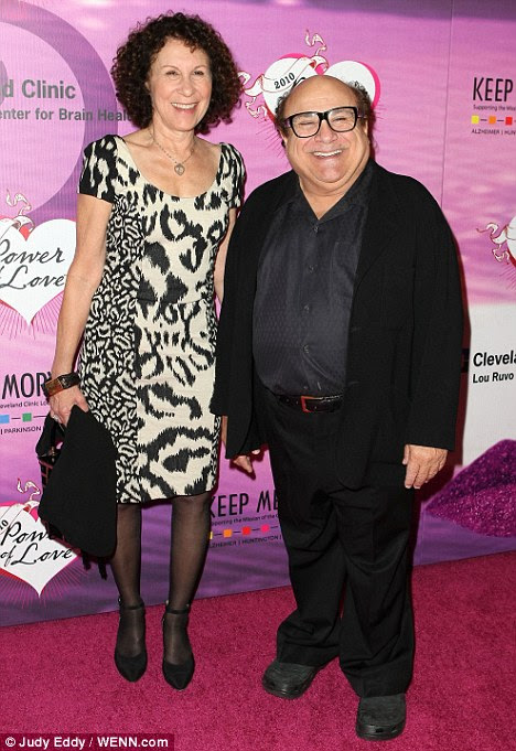 Happier times: Rhea Perlman and Danny DeVito in 2010, the two have ended their 30-year marriage