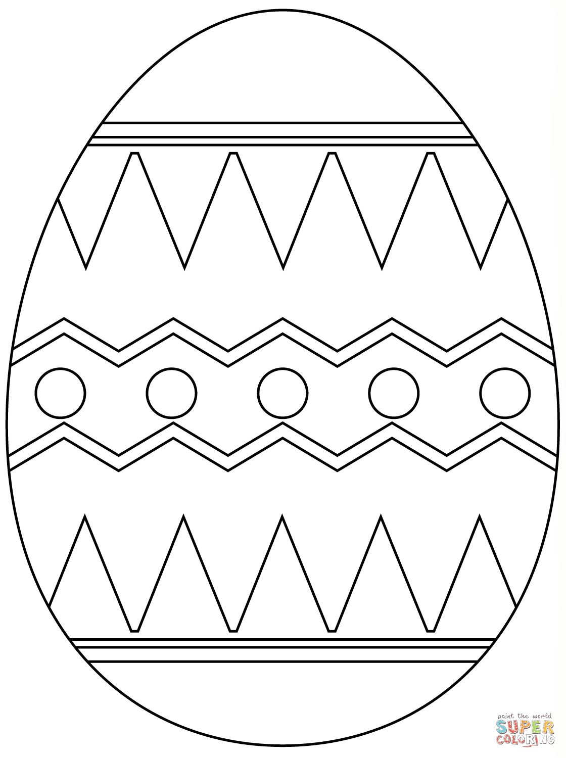 Easter Egg with Abstract Pattern coloring page | Free ...