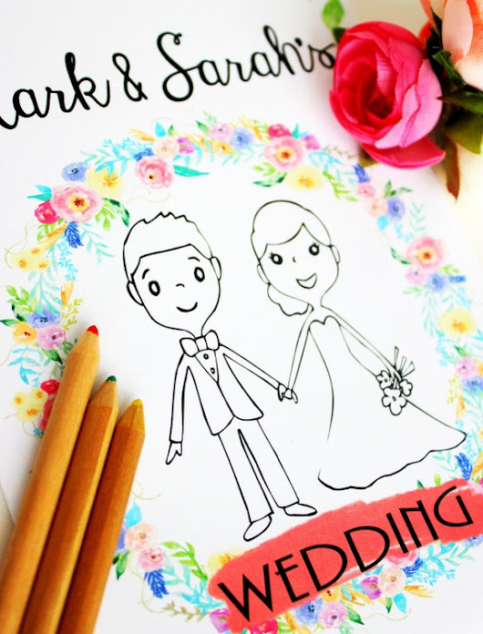 Wedding Coloring Books - Perfect Way To Keep The Children Busy