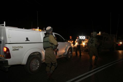 Soldiers near Neve Tzuf following a terror attack - June 6, 2016