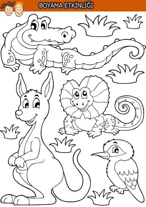 karisik hayvanlar boyama etkinligi meb ders