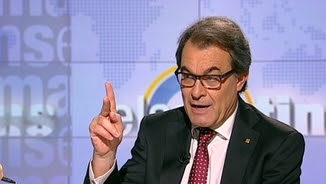 """Artur Mas, entrevistat aquest dilluns a """"Els matins"""" de TV3"""
