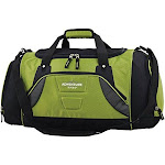"""Travelers Club Luggage 20"""" Multi Duffel with Wet Shoe Pocket, Green"""