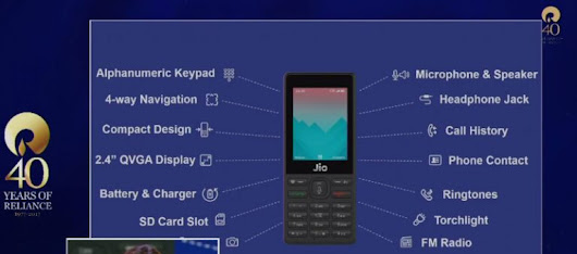 India's first VoLTE feature phone called JioPhone announced with refundable price tag of Rs. 1,500 - GoAndroid