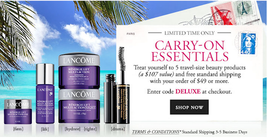 Lancome gift with purchase - 5 pcs with $49 purchase - Gift With Purchase