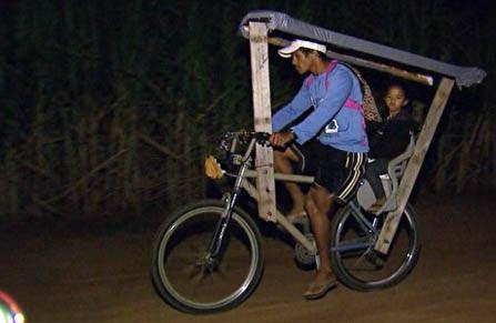Trajeto de bicicleta começa na madrugada | Foto: Reprodução/ EPTV