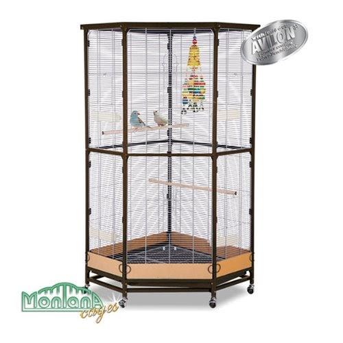 eck voliere zimmervoliere k fig villa esquina choco vanille v gel. Black Bedroom Furniture Sets. Home Design Ideas