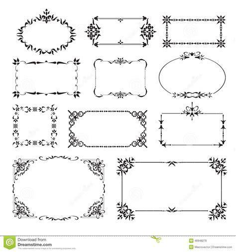 Ornamental Design Corners Set Stock Vector   Image: 46948279