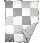 Burt's Bees Baby Organic Reversible Quilt - Dottie Bee - Heather Gray