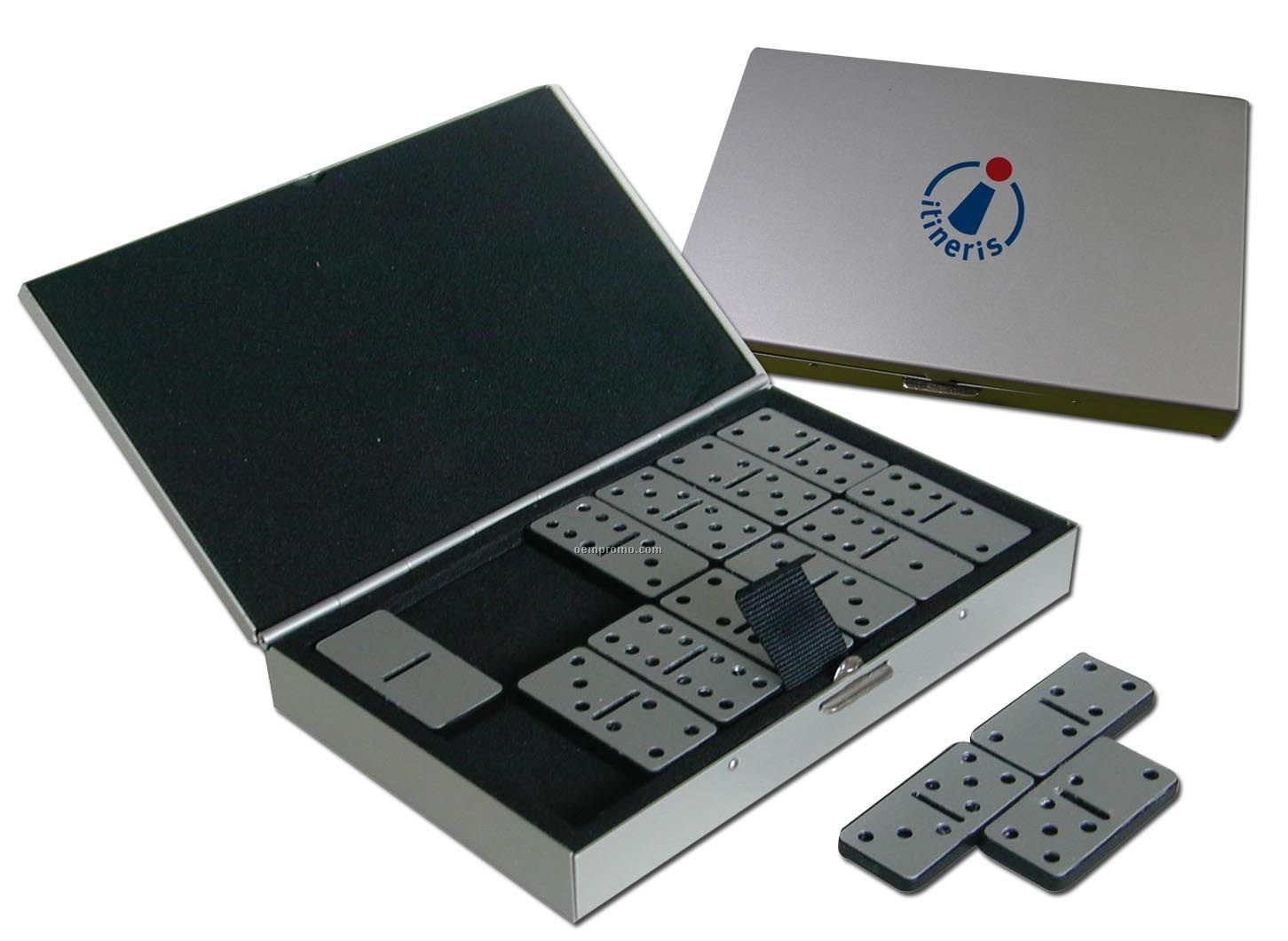 All Stainless Steel Domino Set In Metal Case,China Wholesale All ...
