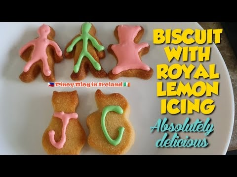 HOW TO MAKE BISCUIT WITH ROYAL LEMON ICING