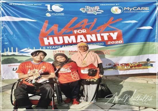 WALK FOR HUMANITY 2020 : DUO SUAMI ISTERI KURANG UPAYA DEMI SOKONGAN KEMANUSIAAN