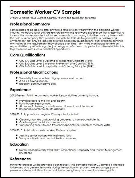 Hong Kong Domestic Helper Resume Best Resume Examples
