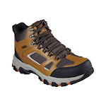 Men's Skechers Relaxed Fit Selmen Regram Hiking Boot, Adult, Size: 9 M, Wheat