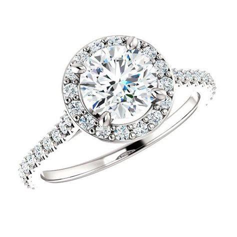 white gold  carat  diamond halo engagement