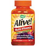 Natures Way - Alive! Adult Gummy Multivitamin - Fruit & Vegetable Blend (90 Gummies) - Gummy Multivitamins