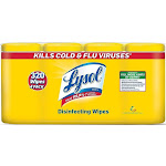 Lysol Disinfecting Wipes, Lemon & Lime Blossom - 4 pack, 80 sheets each