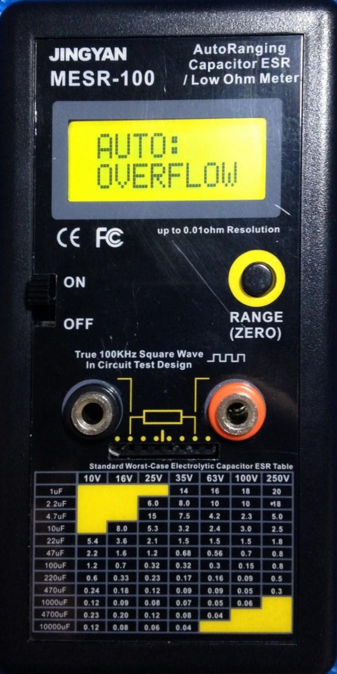 mesr-100 autoranging in circuit esr capacitor low