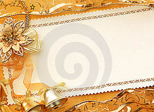 3D Christmas gold background