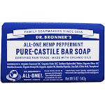 Dr. Bronners PureCastile Bar Soap Hemp Peppermint 5 oz.