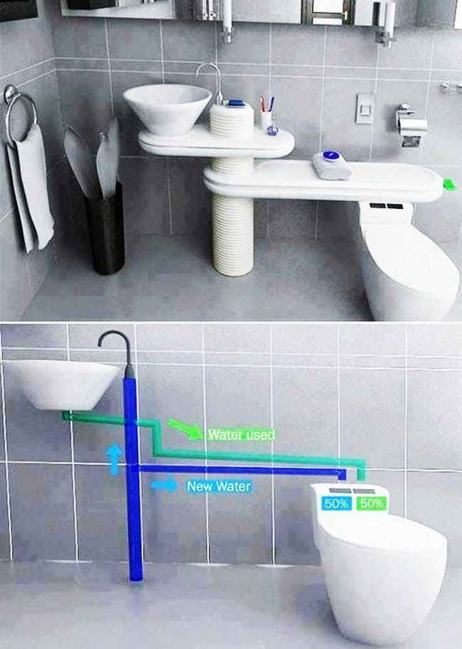 inventos increibles baño recicla agua