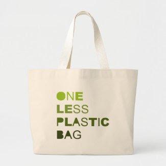 One less plastic bag T-shirt / Earth Day T-shirt bag