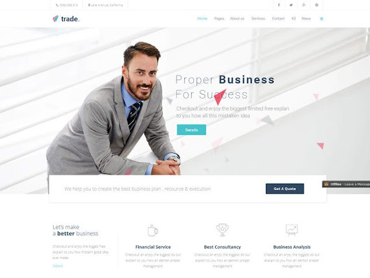 Trade Free Responsive Business Joomla Template