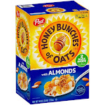 Honey Bunches of Oats with Almonds Cereal, 24 oz, 2-Count