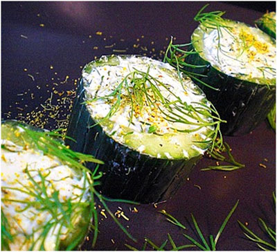 cucumbers-with-dill-pollen-cream-cheese