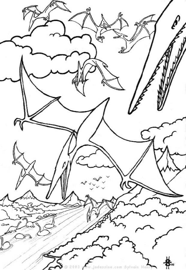 Dibujos Para Colorear Dinosaurios Voladores Eshellokidscom