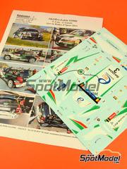 Calcas 1/24 Renaissance Models - Skoda Fabia S2000 Seacoast Nº 3 - Freddy Loix + Johan Gistels - Rally de Ypres 2014 - para kit de Belkits BEL-004