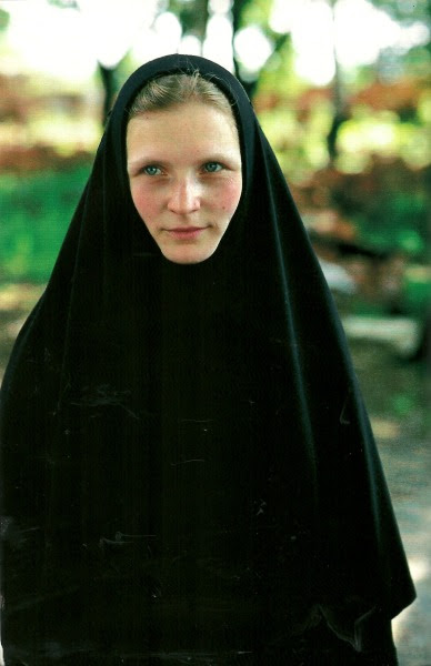 Young Russian Orthodox nun at Tolga Convent, Russia National Geographic | June 1994