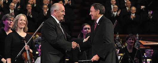 Governor Gary Herbert Becomes the First Utah Governor to Conduct the Mormon Tabernacle Choir