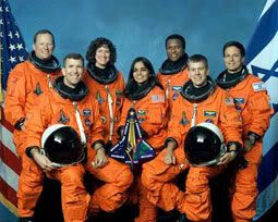 The crew of mission STS-107.