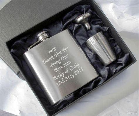 personalised engraved hip flask, usher gifts, best man