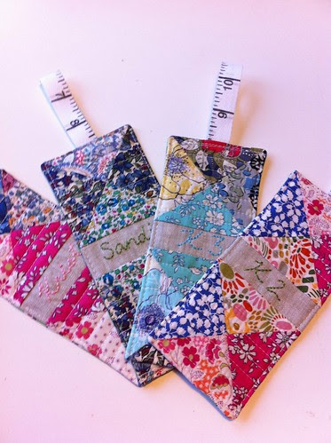 Liberty bookmarks by Poppyprint