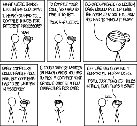 xkcd: Old Days